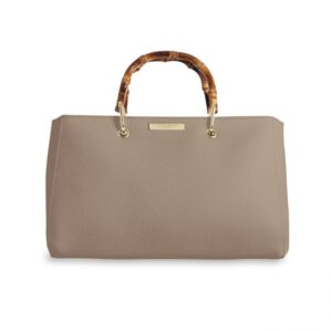 Katie Loxton Avery Bamboo Bag Taupe