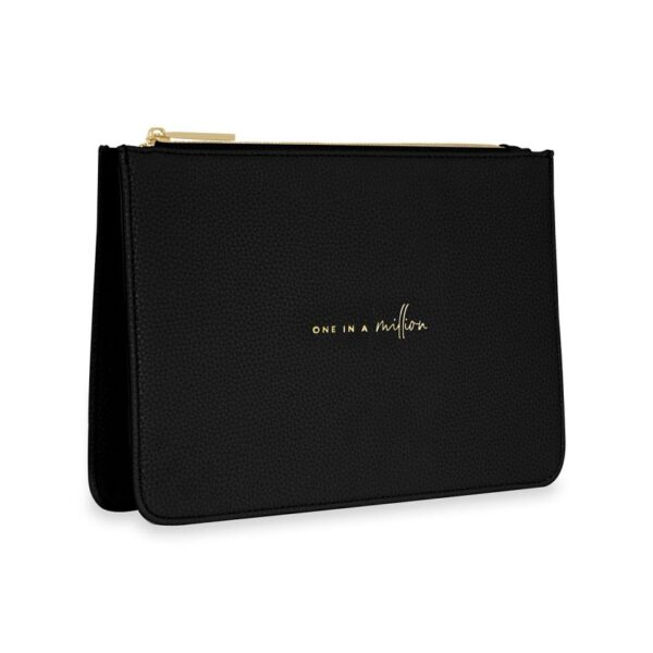 Katie Loxton Black Structured Pouch - One in a Million