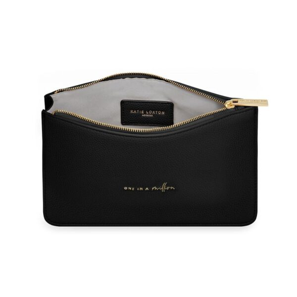 Katie Loxton Black Structured Pouch - One in a Million - inside