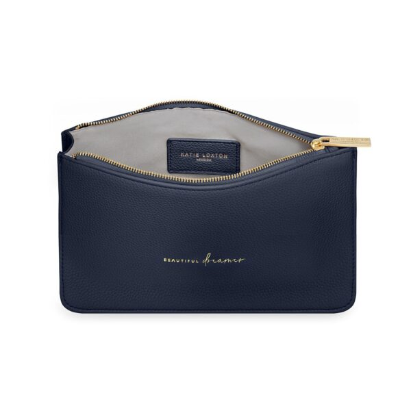 Katie Loxton Navy Structured Pouch - Beautiful Dreamer - Inside