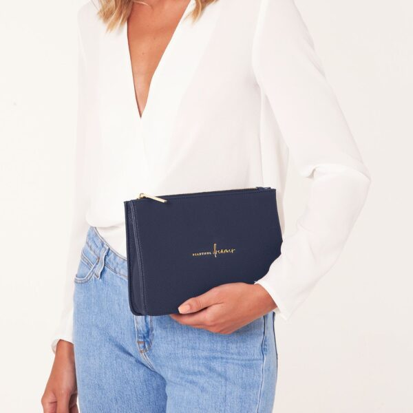 Katie Loxton Navy Structured Pouch - Beautiful Dreamer - on model