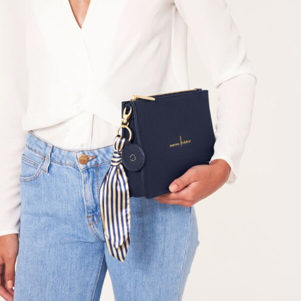 Katie Loxton Navy Structured Pouch - Beautiful Dreamer - with added charms