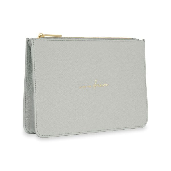 Katie Loxton Pale Grey Structured Pouch - Live to Dream