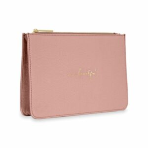 Katie Loxton Pink Structured Pouch - Hello Beautiful
