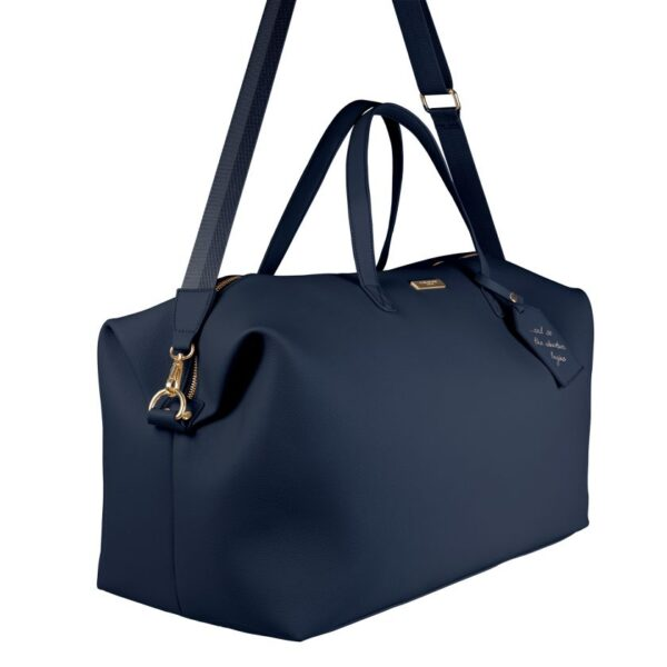 Katie Loxton Weekend Holdall Duffle Bag in Navy Side View