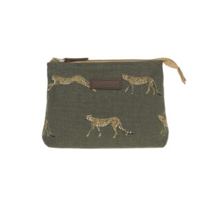 Sophie Allport Cheetah Small Canvas Make Up Bag
