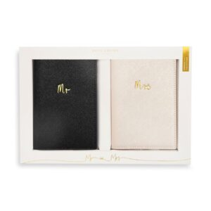 Katie Loxton Bridal Passport Cover Gift Set Mr and Mrs
