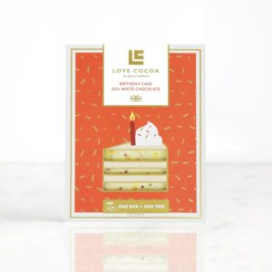 Love Cocoa Birthday Cake White Chocolate Bar