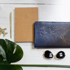 Chasing Threads Stitch Travel Notebook Flatlay with Refill and Pen