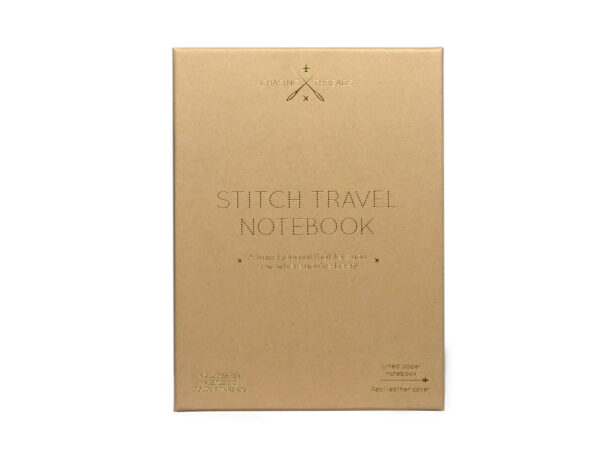 Chasing Threads Stitch Travel Notebook Gift Box White Cut Out