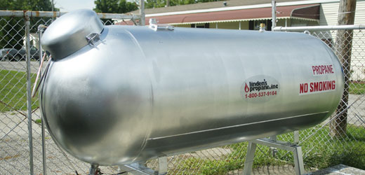 Industrial size propane tank