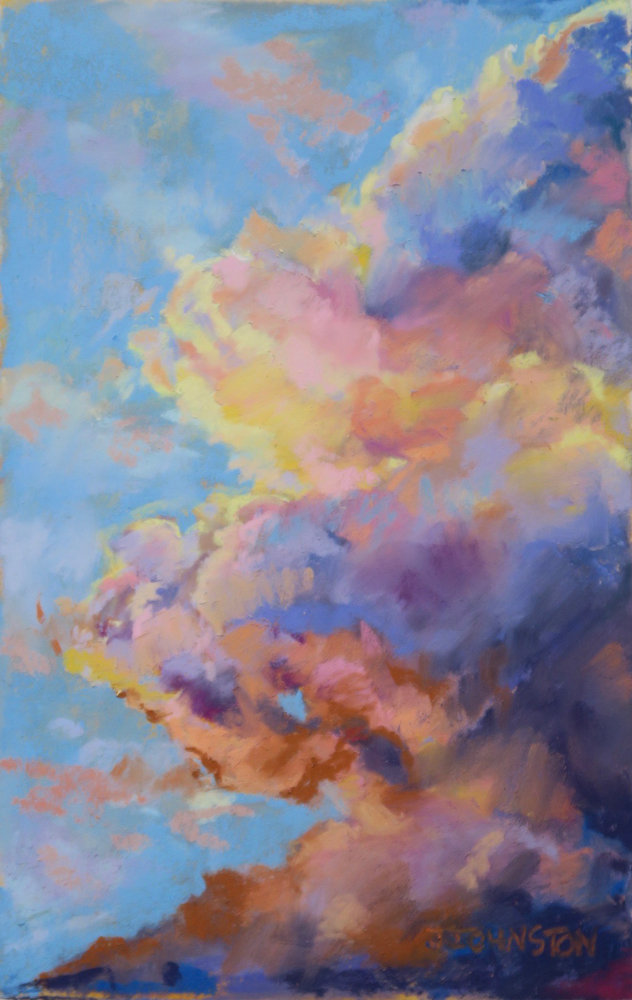 "<p style=""font-size: 16px; line-height: 150%;""><em><strong>Clouds&emsp;<br> </strong></em>Pastel  / 14&rdquo; x 11&rdquo; / Framed&emsp;<br> <strong>SOLD</strong></p>"