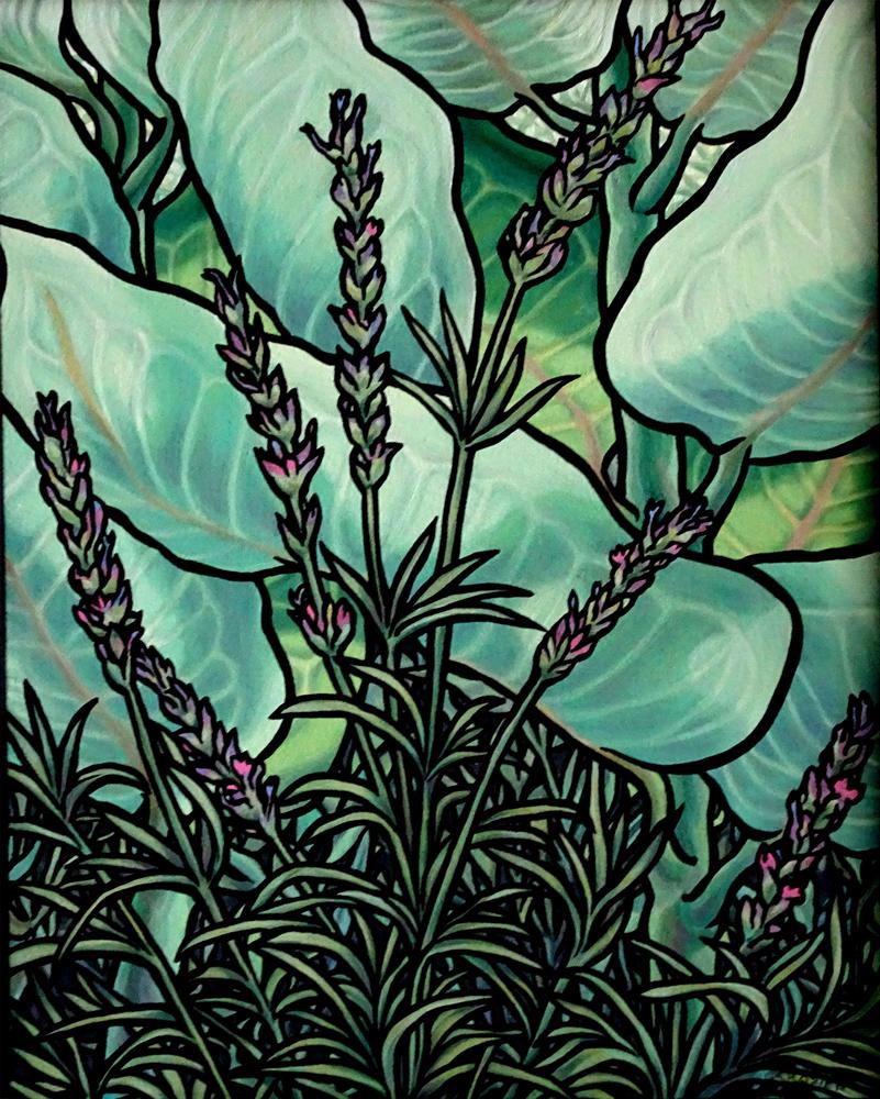 "<p style=""font-size: 16px; line-height: 150%;""><strong><em>Lavender and Milkweed&emsp;<br /> </em></strong>oil painting&emsp;<br /> 17&rdquo; x 22&rdquo; | <strong>$450</strong></p>"