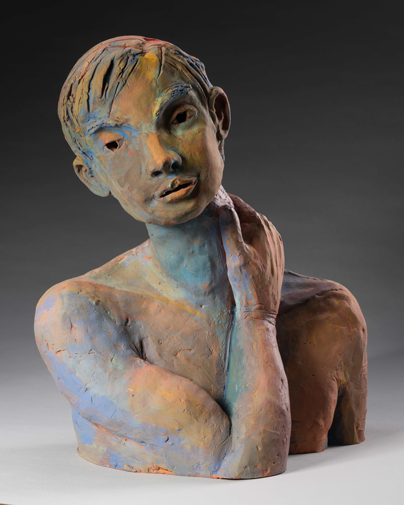 """<p style=""""font-size: 16px; line-height: 150%;""""><em><strong>Bust of Rudolf Nureyev</strong></em><br> life-scale, Earthenware</p>"""