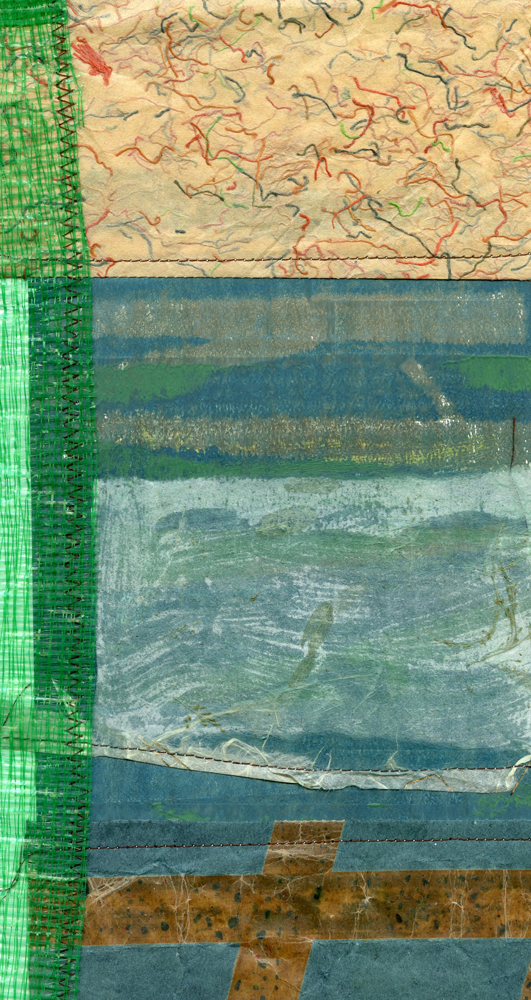 """<p style=""""font-size: 16px; line-height: 150%;""""><strong><em>Textures in Nature</em></strong>&emsp; <br> Monoprint with collage added</p>"""