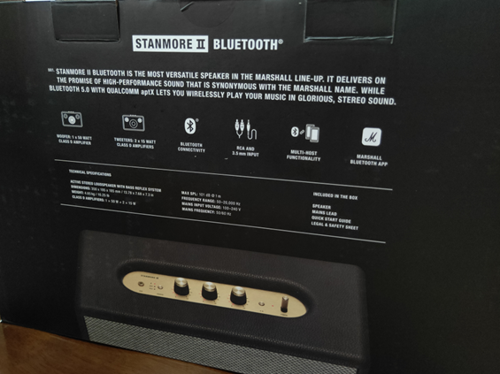 Marshall STANMORE II Bluetooth 產品箱背面照