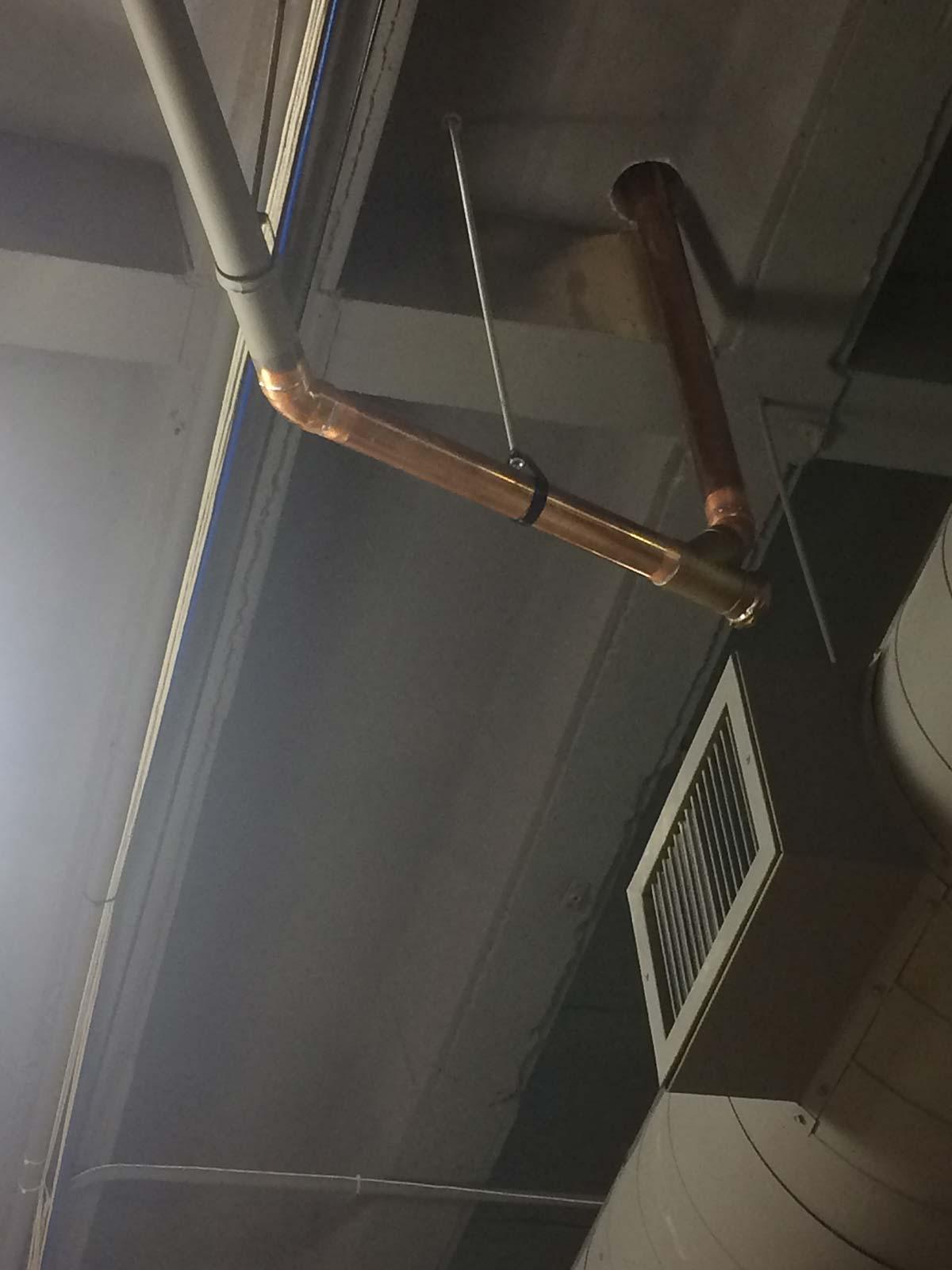 New copper pipe run