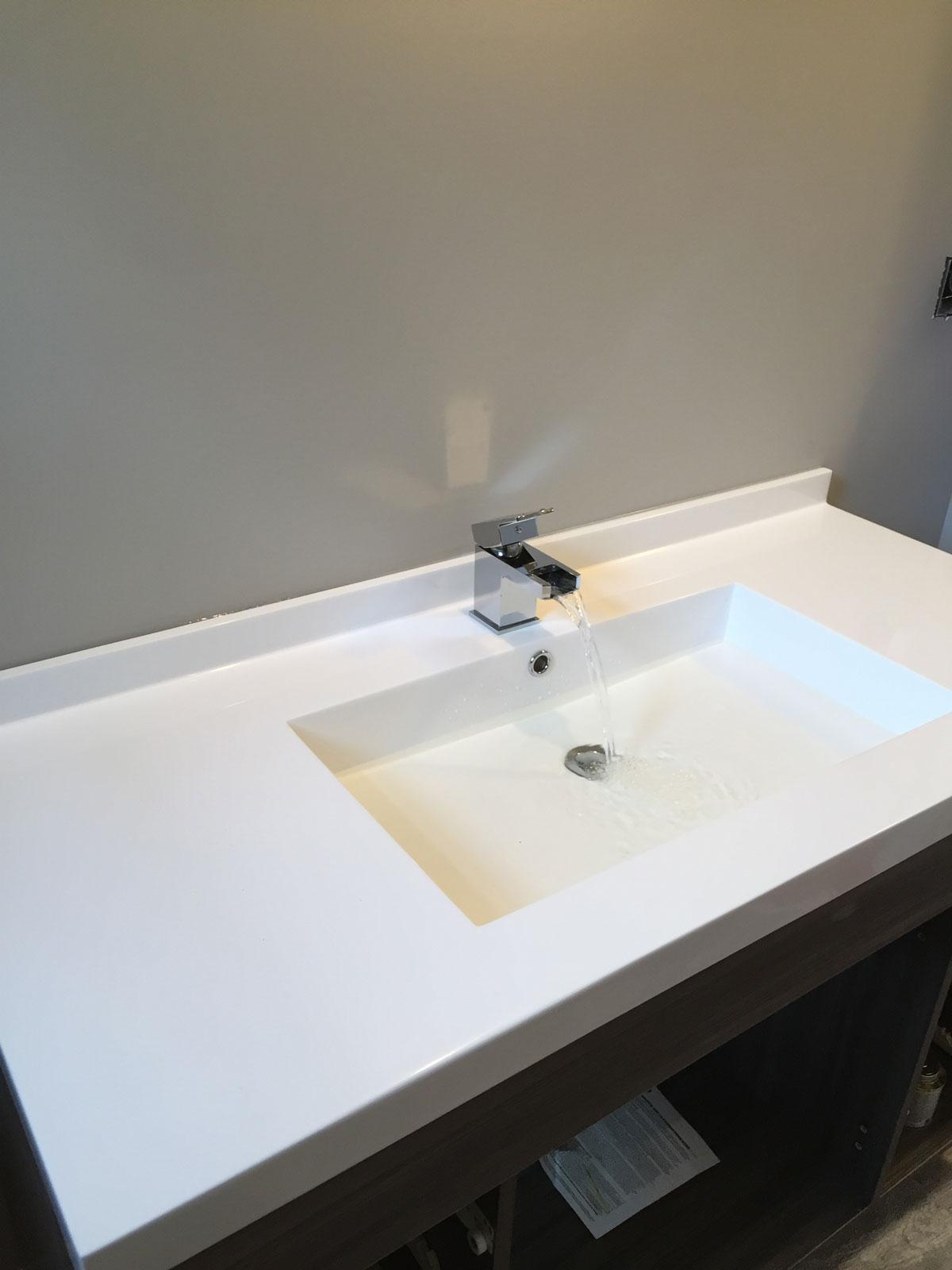 Wide modern sink