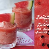 Beauty Detox: Skin-Brightening Watermelon Slush Smoothie