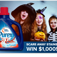 Purex Plus Oxi Scare Away Stains Sweepstakes – Win $1,000 and a Year's Supply of Purex Plus Oxi!