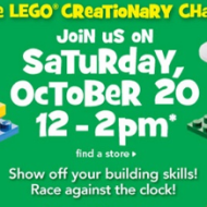At Toys R Us TODAY (October 20th): LEGO Creationary Challenge Event for Kids + LEGO Sale