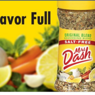 4 Free Samples of Mrs. Dash- LIVE at NOON (EST) First 20,000 Daily Thru 11/29/12