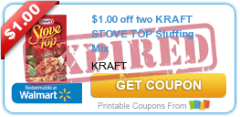$1.00 off two KRAFT STOVE TOP Stuffing Mix