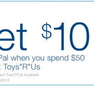 Get $10 Off $50 at Toys R Us Added To Your PayPal Account – Limited Time Only