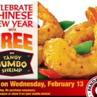 Panda Express: FREE Single Serving of Tangy Jumbo Shrimp (TODAY Only)