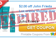 Rite Aid: John Frieda Hair Care Products As Low As Only $.049 Each with Coupons (Starting 4/7)