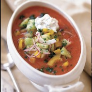 Gazpacho with Cilantro Cream Recipe + 2 New Cookbooks from the Kohl's Cares Merchandise Program Now Available For Only $5 Each