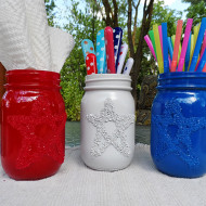 4th Of July Craft For Kids: Star Jars Using Epsom Salts… Who Knew?