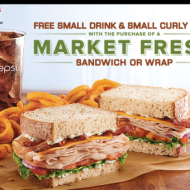 Arby's: Free Small Drink & Small Curly Fries with Market Fresh Sandwich or Wrap Purchase + More!