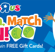 Toys R Us Scratch, Match and Win Game: Win a $500 Toys R Us Gift Card + Tons of Instant Win Prizes!