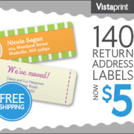 Vistaprint: 140 Customized Labels For Only $5 (Shipping Included)— Only $0.04 Per Label!