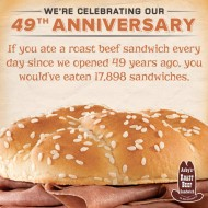 Arby's: Classic Roast Beef Sandwich, Only $0.64 on July 23rd
