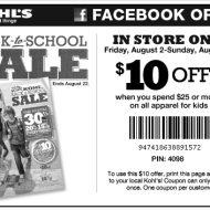 *HOT* Kohl's Coupon for $10 Off $25 On Kids' Apparel Purchase + Win Great Things Sweepstakes