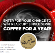 FREE RealCup Single Serve Coffee Sample Packs + Get Entered To Win RealCup Coffee For A Year!