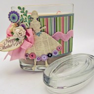 Cute Mother's Day Gift idea: Embellished Jar Candle + Save On Yankee Candle Jar, Tumbler Or Vase Candles (Any Size)