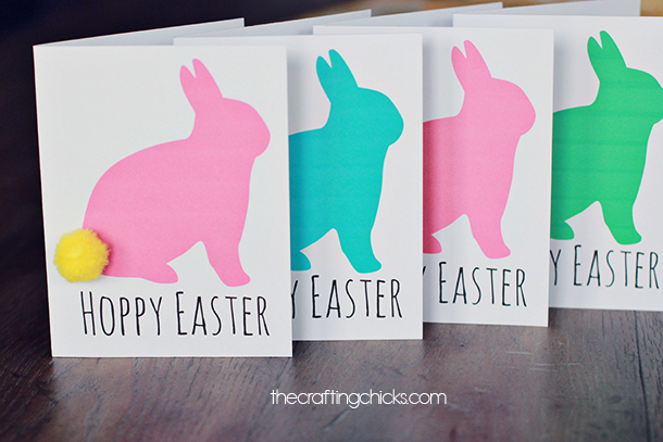 free printable Easter bunny greeting cards