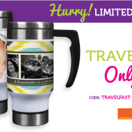*HOT* Deal from York Photo: Custom Travel Mug Only $8.99 Shipped + 40 FREE 4×6 Photo Prints (New Customers Only)