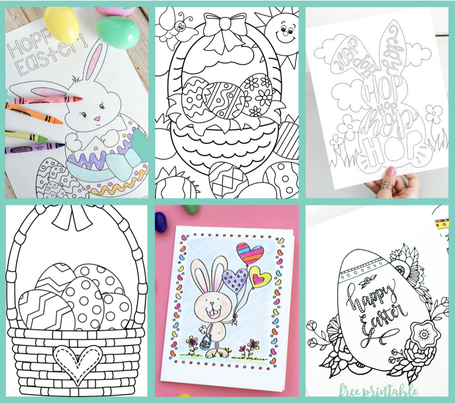 free printable Easter coloring pages