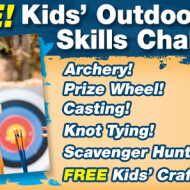 Bass Pro Shops: FREE Kids' Outdoor Skills Challenge + FREE Kids' Craft  On May 3 and 4