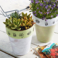 Weekend Craft Idea: Stamped Clay Pot + Michael's 25% Entire Purchase Coupon (Including Sale Items)