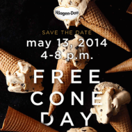 Häagen-Dazs: FREE Cone Day TODAY (5/13 Only)