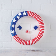 DIY Craft Idea for July 4th: Patriotic Ribbon Wrap Wreath + Craft Store Coupons For The Week