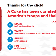Send FREE Coca-Cola to America's Troops & Their Families