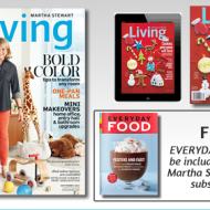More FREE Magazine Subscriptions: Martha Stewart Living, Everyday Food and Glamour Magazines