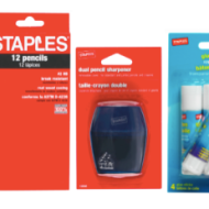 Staples Back-To-School Deals Thru 7/26 + Save More with $5 Off $30 or More Purchase Coupon
