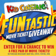 Kid Cuisine FUNtastic Sweepstakes: Enter to Win a Pair of FREE Children's Movie Tickets